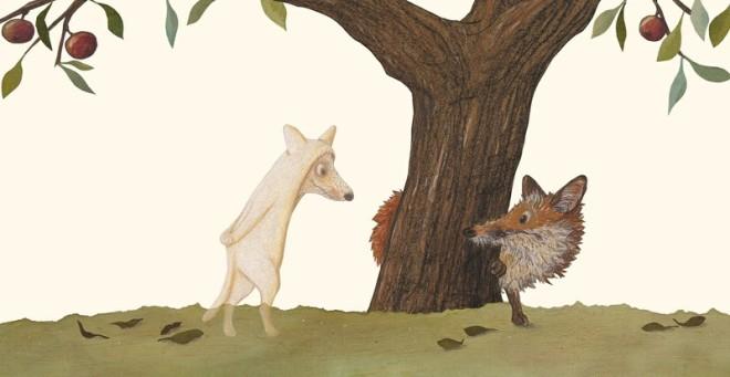 Der Tod auf dem Apfelbaum Fuchs und Tod